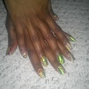 mardi gras theme nails