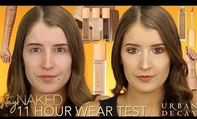 NEW! URBAN DECAY STAY NAKED FOUNDATION & CONCEALER! (11 HOUR WEAR TEST)