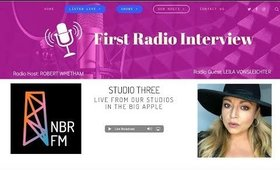 My First Radio Interview LIVE!