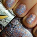 Feathers blue Nails Inc. polish
