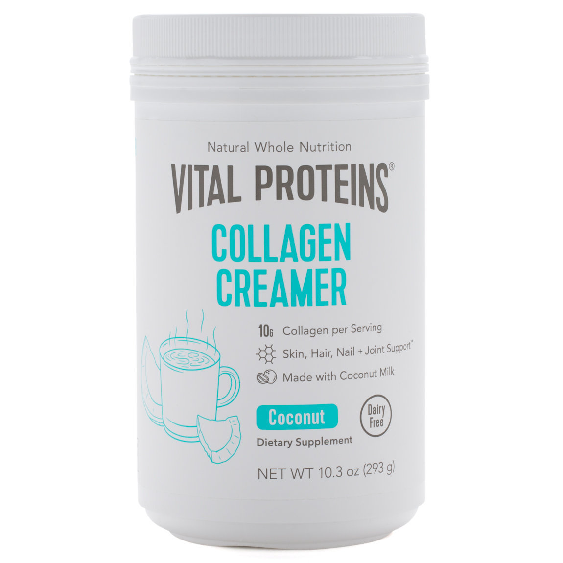 Vital Proteins Collagen Creamer - Coconut 10.3 oz product swatch.
