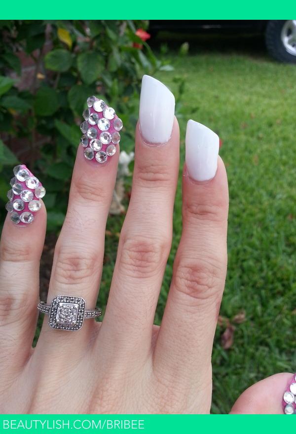 Lipstick Acrylic Nails | Brittany G.\'s (bribee) Photo | Beautylish