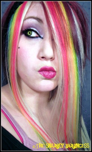 Skittles- Taste the Rainbow! Handmade multicolor hair extensions.