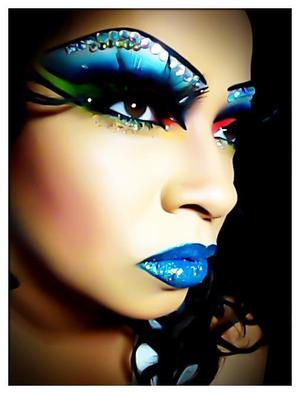 This was a look I created for a Circus performer.