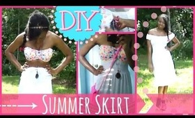 DIY Summer Skirt ♡ How to Creatively Transform Your Wardrobe (No Sew)