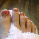 Glitter Fall toes