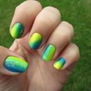 Neon flakes