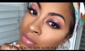 Huda Beauty New Nude Palette!!