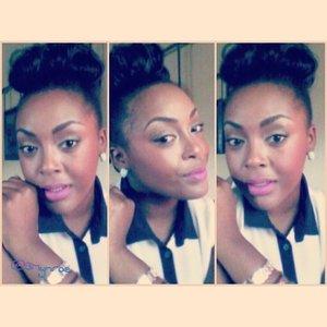 Nooo...No. #NoShade #LOTD #MOTD #FacedByBMynroe #LipsOfTheDay #Lipstick #Bun #HOTD #Makeup #BeautyCommunity #Beauty #Beautylish   #Pampadour