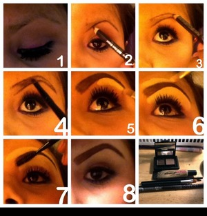 This is what I do,I always get complements and I thought I should show some of you,step by step how I do my eyebrows