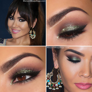 details: http://www.maryammaquillage.com/2013/12/glam-green-glitter-holiday-makeup.html