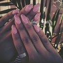 Rose Nails/Glitter/Shine/Nails/stiletto nails/mandorla