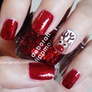 Easy Rudolph Nails