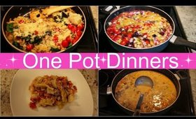 5 ONE POT DINNERS | WHAT'S FOR DINNER