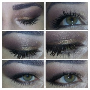 One of my daily make up style  Gold brown with a bit purple