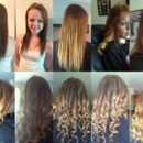 Ombre hair by Christy Farabaugh before and after