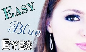 Easy Blue Eye Makeup Tutorial for Prom