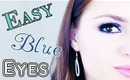 Easy Blue Eye Makeup Tutorial for Prom