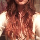 Current hair color: copper red ombre!