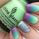 Green mint and purple
