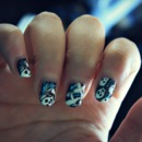Skeleton Nails...with glitter!!