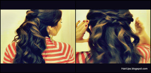 Collection of 7 everyday, easy hairstyles with curls for long hair and for medium hair. http://hairups.blogspot.com/2012/11/7-easy-quick-everyday-hairstyles-for.html http://youtu.be/BTxu4Ay2fPo