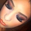 Orange smokey eye with orange lips :)