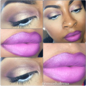 Follow me on Instagram to see what I used for this look @muashaleena . I love this Riri Boy lipstick!!