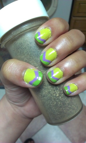 First attempt at V-shaped nails :)