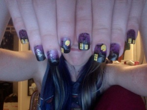 My mom sent me these goofy haunted house fake nails :) They're too cute!