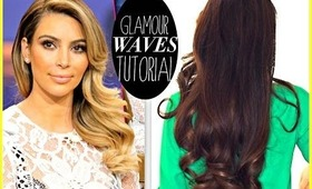 ★ KIM KARDASHIAN EVERYDAY OLD HOLLYWOOD CURLS | HOLIDAY HAIRSTYLE FOR LONG HAIR TUTORIAL & GIVEAWAY!