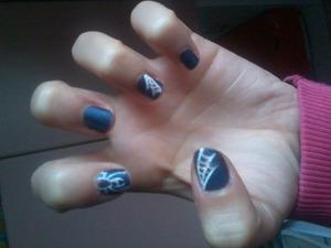 my Halloween nail art
