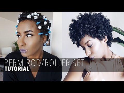Perm Rod Roller Set On Short Natural Hair Ambrosia M Video Beautylish