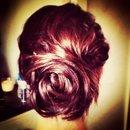 Bridal rose bun