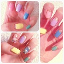 "DIY ""Sakura Petal- Shaped"" Border Nails With Gems"