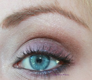 Smokey eyes using purple, copper/bronze and white. Simple black liner and a swipe of mascara is all that's needed.
