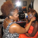 Finishing up the prom girl's makeup! 2012