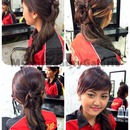 Hairdo And Simple Make Up