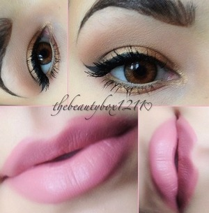 Gold and pink makeup