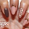 Fall Leopard Nails