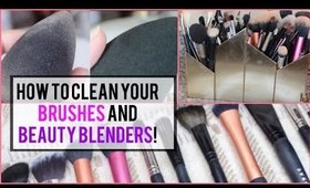 HOW TO DEEP CLEAN YOUR BRUSHES AND BEAUTY BLENDERS WITH ONE INEXPENSIVE PRODUCT! | ESMIEMAKEUP