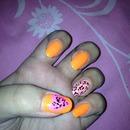 orange & lepard print