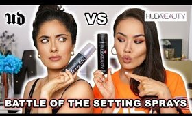 HUDA BEAUTY RESTING BOSS FACE vs URBAN DECAY ALL NIGHTER | MaryamNYC + Melissa Alatorre