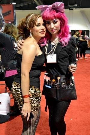 Me working the Beauty Expo; & taking photos with fans!