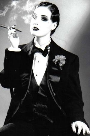 Dita Von Teese Tux. Make Up by Darilynn