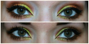 Have fallen in love with this limegreen shadow from the Sleek Cnady Collection palette <3