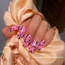 Pink and purple abstract nails