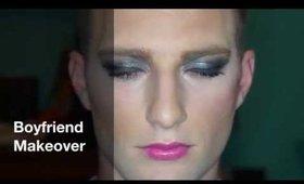 Girlfriend Does Boyfriend's Makeup !!! [TAG]