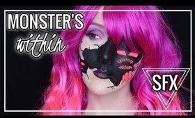MONSTERS WITHIN   Blacklight/UV Halloween Makeup Tutorial   Caitlyn Kreklewich