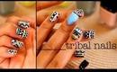 Tribal Nails Tutorial ft. LVX Nail Polish